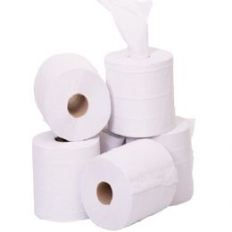 White Centre Feed Rolls 2 Ply